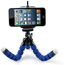 Swapkart Flexible Octopus Style Tripod with Universal Mobile Monopod Mount Adapter and Long Screw Holder for DSLR and Smartphones (Multicolour)