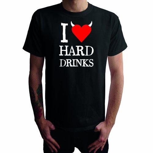 I don't love Hard Drinks Herren T-Shirt Schwarz