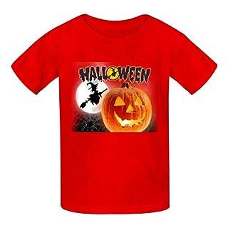 ingxianze T-Shirt en Coton pour Enfant Motif Citrouille 3D - Rouge - M
