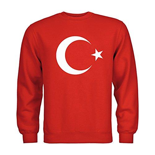 dress-puntos Kids Kinder Sweatshirt Türkei Mondstern 20drpt15-ks00036-169 Textil red / Motiv weiss Gr. (Kostüme Türkei Kinder)