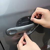 Pellicola protettiva antigraffio per maniglia della porta per auto, 8 pezzi, 2 set