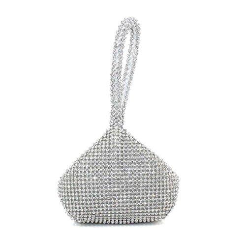 Borsa A Mano Da Donna Con Diamanti Brillanti Borsa A Tracolla Principessa Argento