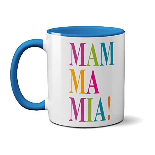Mamma Mia Word Art Mug.