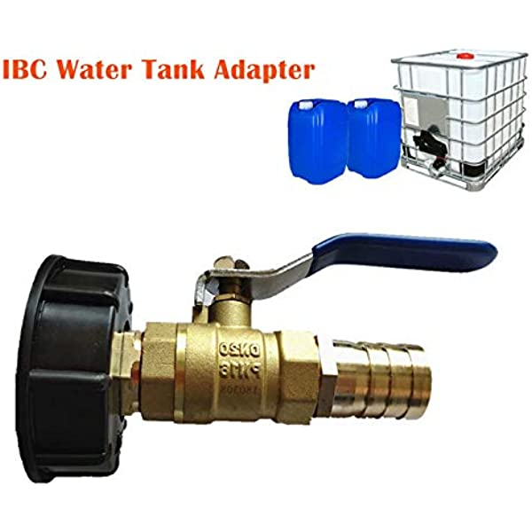 IBC S60 X6 COARSE THREADED CAP with Garden hose connector Hose Pipe  Free P/&P