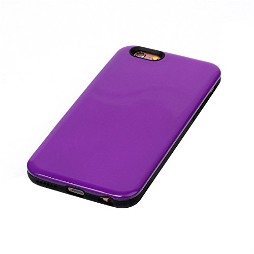 IPhone 6 u. 6s Fall TPU + PU Kombination schützender rückseitiger Abdeckungs-Fall für iPhone 6 u. 6s by diebelleu ( Color : Rose gold ) Purple