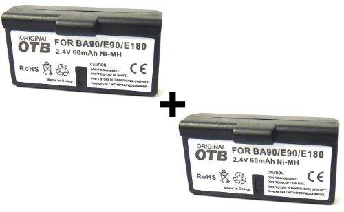 MQ 2x Kopfhörer Akku für Sennheiser BA90 E90 E180 Audioport A1 / S 180 / HDI 92 P / HDI 1029