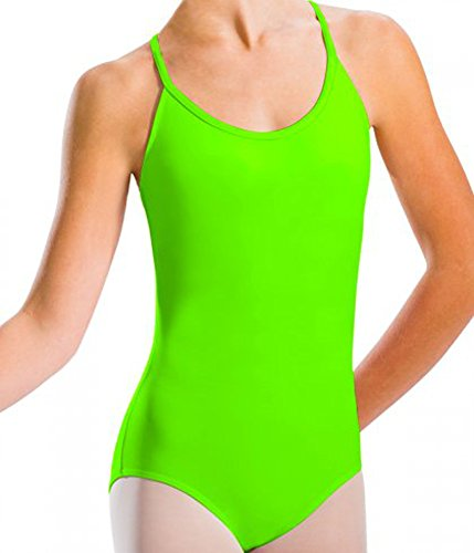 Mesdames cette sangle coton justaucorps / combinaisons(2310) vert citron(lime green)