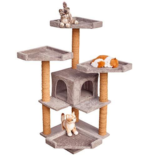"""VOSS.PET Kratzbaum - Hochwertiger Katzenkratzbaum \""""Sylvester großen Katzenhöhle und robustem Kokosseil, Höhe: 114 cm, Farbe wählbar - Der Kletterbaum für Ihren Liebling"""