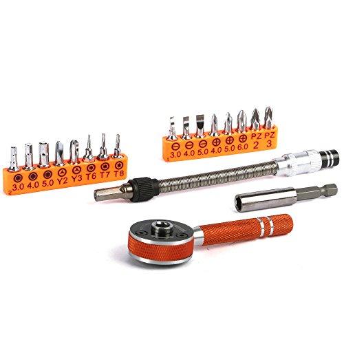 Ratchet Tool Set, Vinabty multifunzionale Kit Cricchetto magnetico per uso domestico manutenzione, cucina / Desk / Fence Riparazione