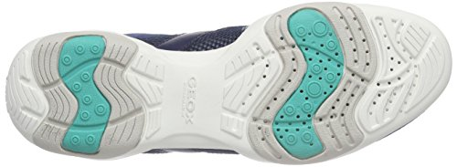 Geox D Arrow C, Baskets Basses femme Bleu - Blau (DK ROYALC4072)