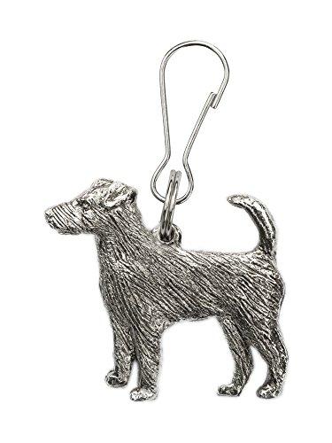 Parson Jack Russell Terrier Hergestellt in U.K. Kunstvolle Hunde- Reißverschlußanhänger (Zipper pull) Sammlung (Terrier Russell Jack Figur)