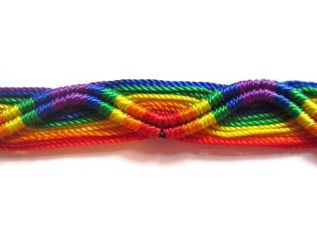2-Baumwolle-gewebt-Regenbogenfarben-Gay-Pride-ArmbandFreundschaftsarmbandArmband-100-Baumwolle
