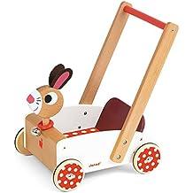 Janod - Crazy Rabbit, andador carrito con diseño de conejo (J05997)