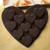 Wiivilik Romantische Liebe Silikon Formen Silikagel-Schokolade-EIS-Behälter-EIS-Form-Liebes-Form Kleine Herz-Kuchen-Form