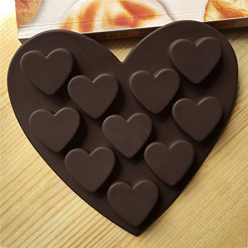 Floridivy Romantico Amore del Silicone Stampi Gel di silice Cioccolato del Vassoio del Ghiaccio della Muffa del Ghiaccio Figura di Amore Piccolo Cuore Torta Mold