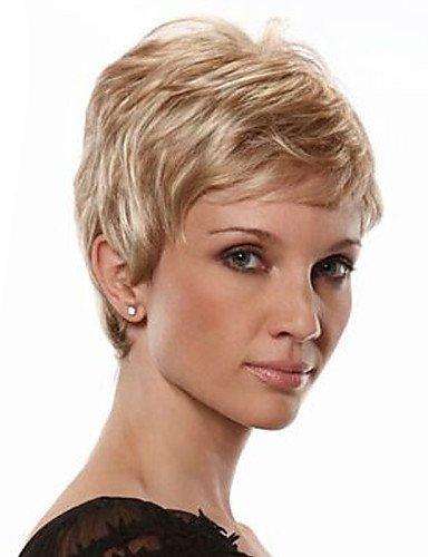 JIAFA BBDM Cheveux Courts Perruques Femmes Blanches européennes Femmes Noires synthétiques Perruques Courtes, Blonde