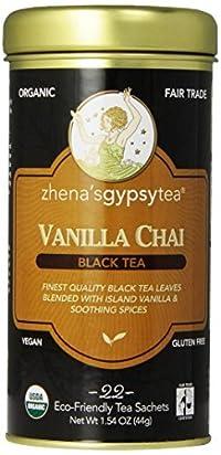 Zhena's Gypsy Chai Black Tea, Vanilla, 22 Count