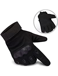 Freiesoldaten - Guantes con dedos abiertos para ciclismo, escalada, entrenamiento, conducción, motocicleta, tácticos, negro, X-Large