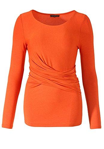 Shirt Rundhals Orangerot