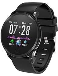 moreFit Fitness Armband Uhr, Smartwatch Fitness Tracker mit Pulsmesser Wasserdicht IP68 Fitness Uhr Pulsuhr Schrittzähler Uhr für Damen Herren Anruf SMS SNS Beachten