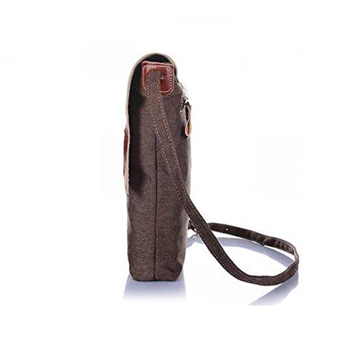 Man Vintage Classic Robuste Langlebige Wilde Stoßfarbe Quadratische Tasche Geneigter Schulterbeutel Multicolor Blue