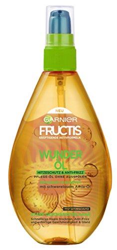 Garnier Fructis Schaden Löscher Wunder-Öl Hitzeschutz, 3er Pack (3 x 150 ml)