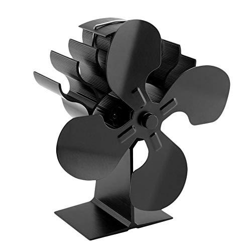Phayee Ventilador para Chimenea, 4 Ventiladores Blade con Funcionamiento térmico, eficiente distribución...