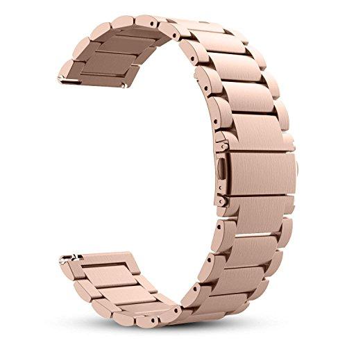 WATORY Daniel Wellington 36mm Armband, 18mm Uhrenarmband Edelstahl Metall Ersatzband für für Huawei Watch/Withings Activité Nokia Stahl HR 36mm/Daniel Wellington 36mm