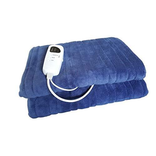 CHROMEX Couverture Polaire Chauffante 1 place Bleue 2054
