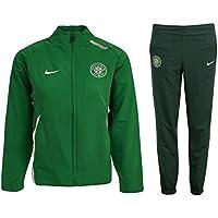 e1f0c2215 Nike Boys Celtic FC Tracksuit Junior Training Kids Woven Presentation Warm  Up Jog Suit Green 237915