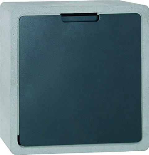 Serafini Briefkasten Concret CQ Korpus Beton/schwarz 40 x 40 x 12 cm