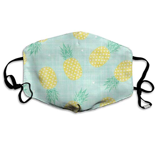 Daawqee Staubschutzmasken, Pineapple Face Masks Breathable Dust Filter Masks Mouth Cover Masks with Elastic Ear ()