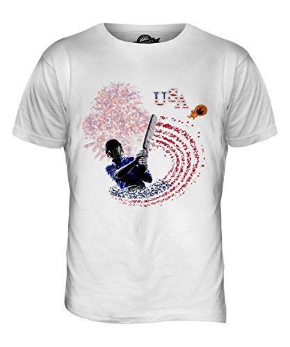 CandyMix Vereinigte Staaten Cricket Herren T Shirt Weiß