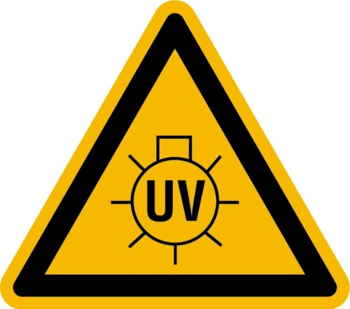 LEMAX® Aufkleber Warnung vor UV-Strahlung SL 100mm