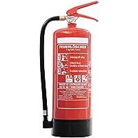 Feuerlöscher 6kg ABC Pulverlöscher mit Manometer EN 3 + ANDRIS® Prüfnachweis & ISO-Symbolschild Folie