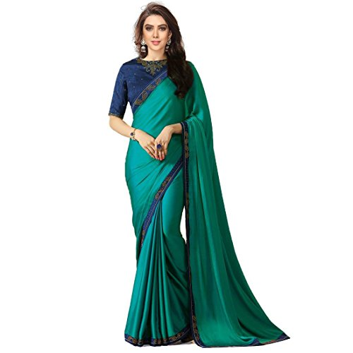 TRYme Fashion Women's Party Wear Georgette Saree With Blouse Piece