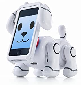 BANDAI Smart Pet SMP-501W White Dog Robot for iPhone
