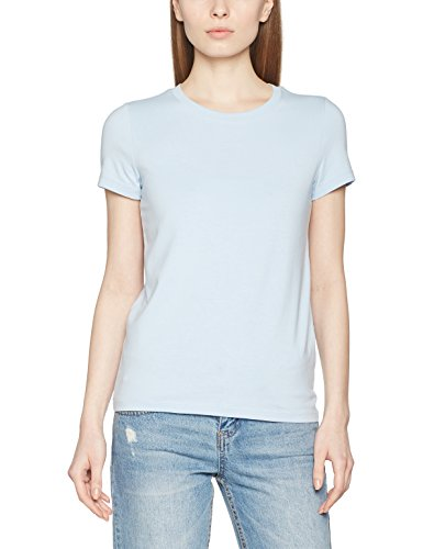 ONLY Damen T-Shirt Onllive Love Trendy SS O-Neck Top Noos, Blau (Cashmere Blue Cashmere Blue), 42 (Herstellergröße: XL) (Cashmere Sleeve Short Tee)