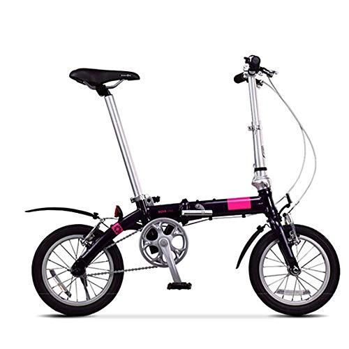 XMIMI Faltrad Ultraleicht Männer und Frauen Mini tragbare kleine Rad Fahrrad 14 Zoll