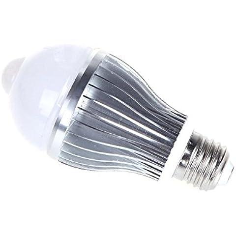 XIE@ 6W E27 lampadina LED Auto PIR di movimento a