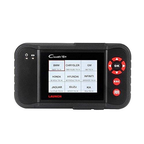 Launch X431 VII+ OBDII Diagnosewerkzeuge Diagnosegerät Auto Code Reader EOBD OBD2 Fehlercodelesergerät Scanner Tool, unterstützt Autosystems Motor Getriebe ABS Airbag (SRS), System-Update über PC, Deutsch verfügbar (X431 VII+)