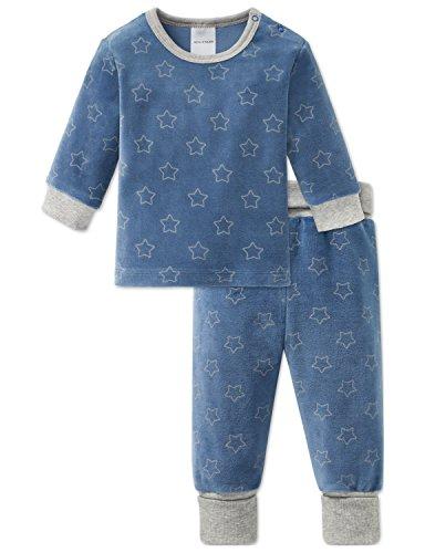 Schiesser Schiesser Jungen Zweiteiliger Schlafanzug Grand Prix Baby Anzug lang 2-teilig Blau 800, 56