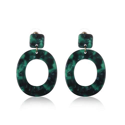 Presock Damen Ohrringe Ohrstecker, 1 Pair Vintage Drop Earrings For Women Ethnic Resin Multicolor Bead Large Bohemia Dangle Earrings Statement Jewelry 11