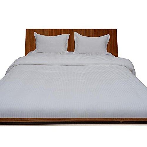 Ägyptische Baumwolle Super Soft 500Fadenzahl 500TC flach oder Top Tabelle mit extra Kissen UK Single weiß gestreift 100% Baumwolle Italian Finish -