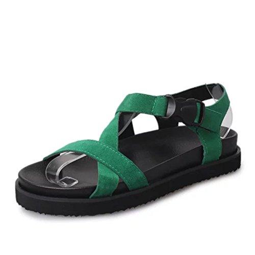 Fashion Lady Sport sandales en été/chaussures rétro de l'étudiant de l'Angleterre et Mats flat Sandals/Joker sandales/Chaussures de Joker C