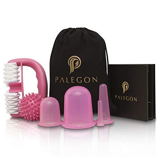 PALEGON Anti Cellulite, Falten Silikon Massage Cups Set, Cellulite Saugglocke, Massageroller, Massageball inklusive Gebrauchsanweisung für strahlend schöne Haut