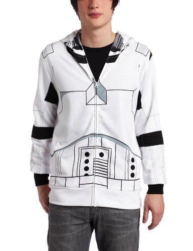 Erwachsenen Trooper Für Kostüm Death Star Wars - Star Wars Storm Trooper Herren Kapuzenpullover - Weiß - XX-Large