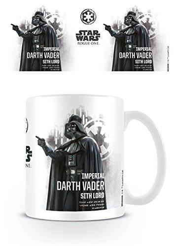 Star Wars Rogue Uno Darth Vader Perfil Taza de cerámica, Multicolor