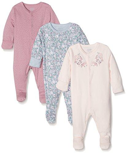 Mamas & Papas 3Pk Floral Sleepsuits, Pijama para Bebés, Rosa, Recién Nacido...