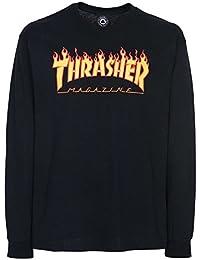 Thrasher Flame Logo Long Sleeve T-Shirt Black